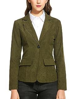 Cord blazer grun