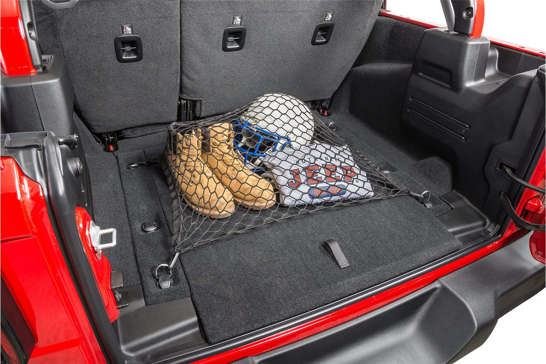 cargo net organizer 100 x 80 cm Max. 150 x 120 cm Trunk with 12 hooks Boot