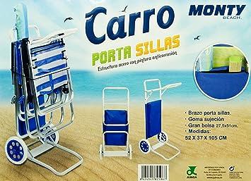 Monty Beach Carro Porta Sillas (2 Unidades)