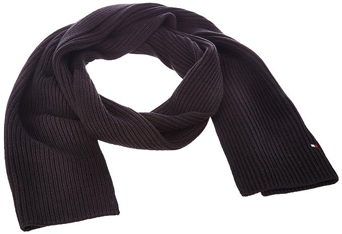 Tommy Hilfiger Men s PIMA CTN CASHMERE SCARF Plain or unicolor Hat - Black  - Noir ( 62d3a25de7c4