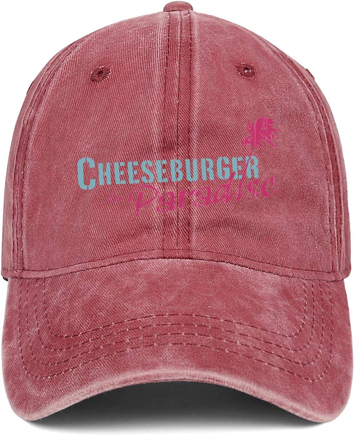 Wudo Unisex Cheeseburger in Paradise Hat Pretty Trucker Hat Baseball Cap Adjustable Cowboy Hat