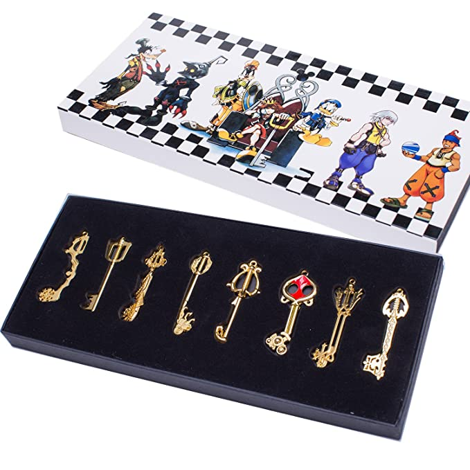 Amazon.com: Kingdom Keys - Juego de collar y colgante con ...