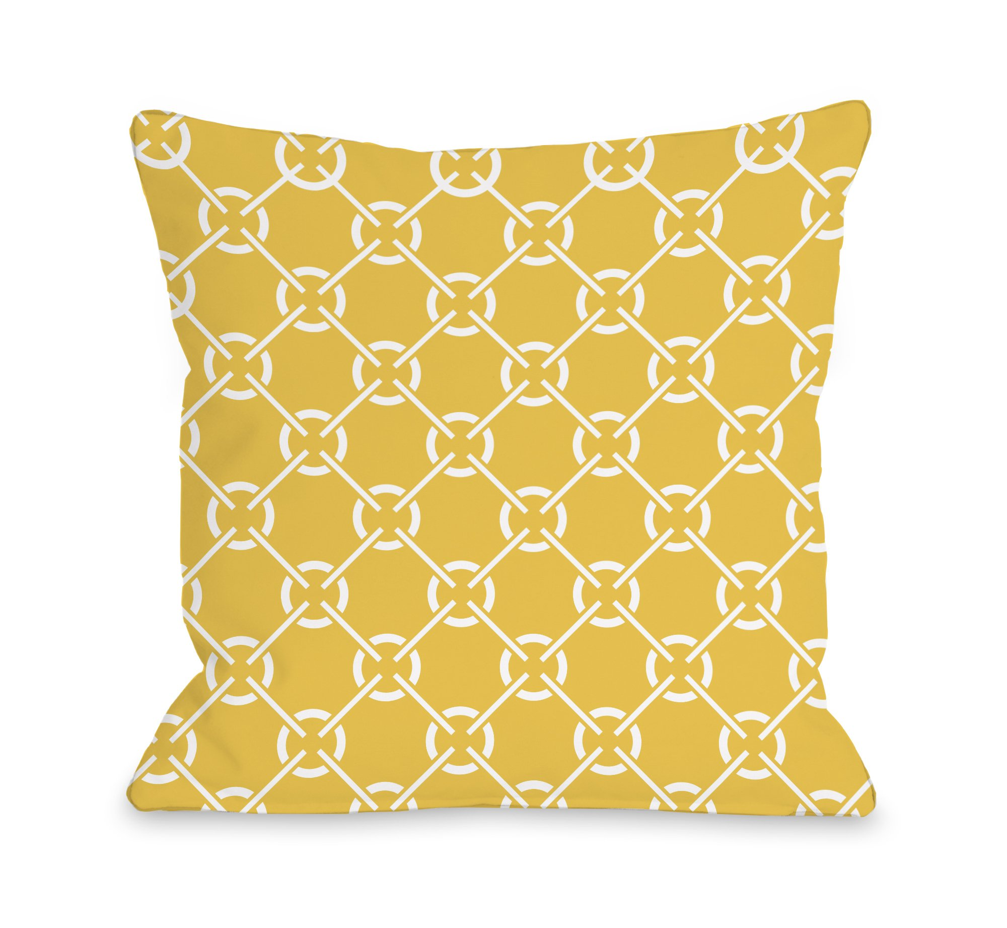 One Bella Casa Cecile's Circles Outdoor Throw Pillow by OBC, 16''x 16'', Solar Power