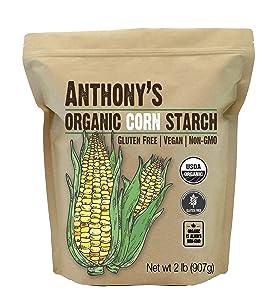 Anthony's Organic Cornstarch, 2 lb, Gluten Free, Vegan & Non GMO