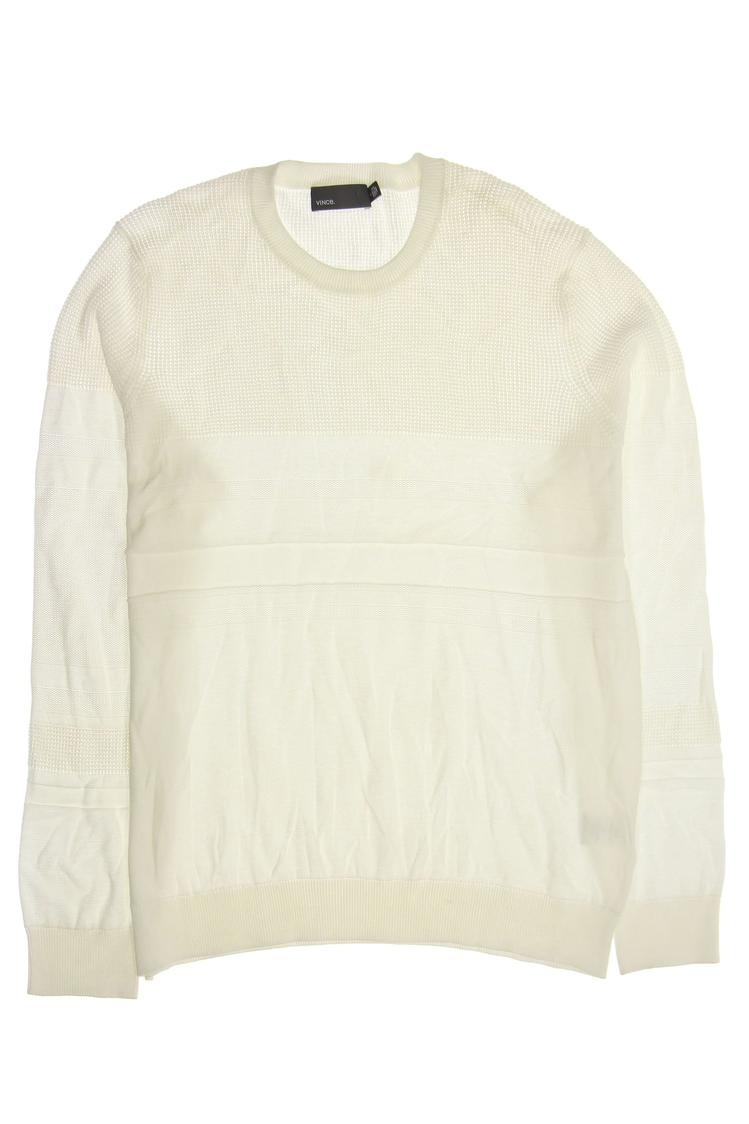 Vince Crew Neck Sweater (Off White, Large)
