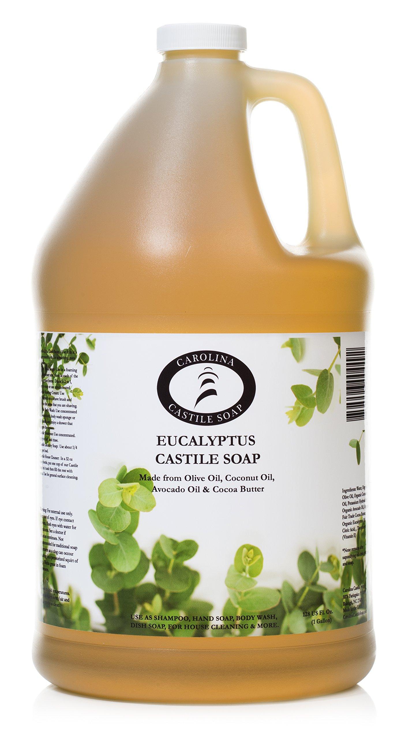 Carolina Castile Soap Eucalyptus | Certified Organic - 1 Gallon