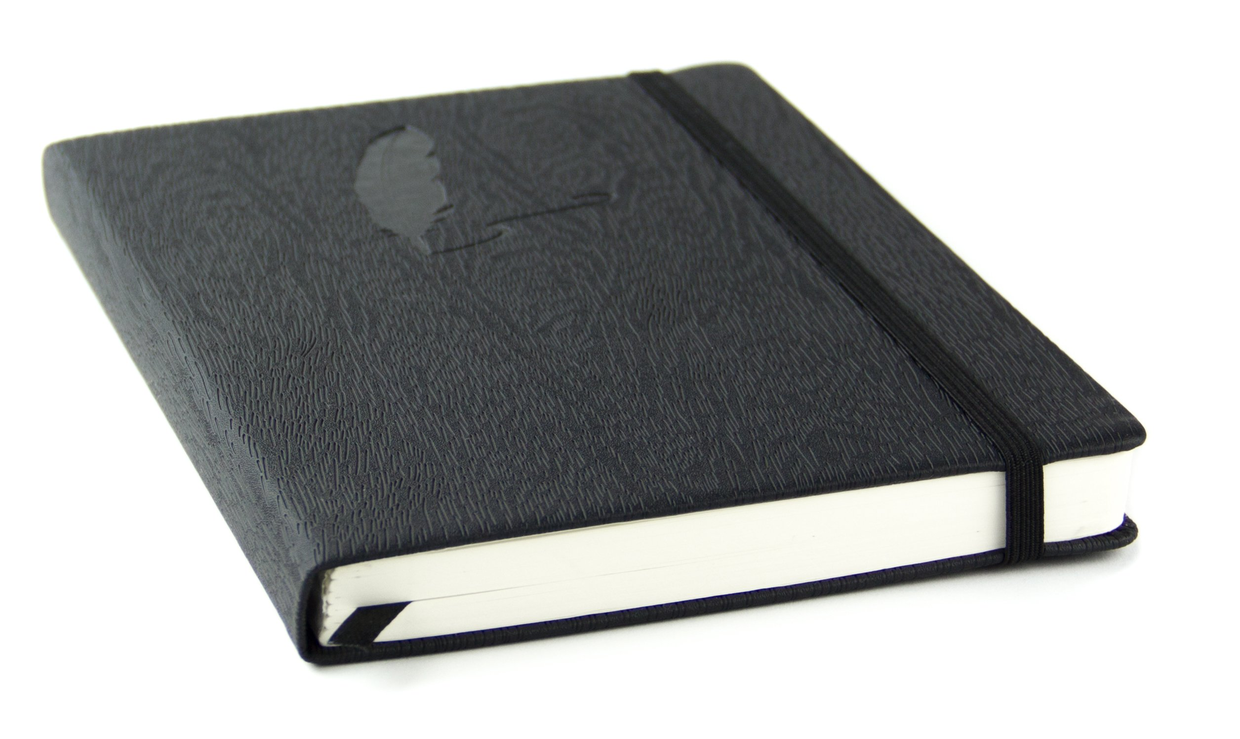 Red Co Journal with Embossed Quill, 240 Pages, 5''x 7'' Lined, Black