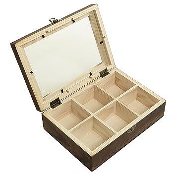 Amazoncom MyGift 6 Compartment Shadow Box Craft Jewelry Storage