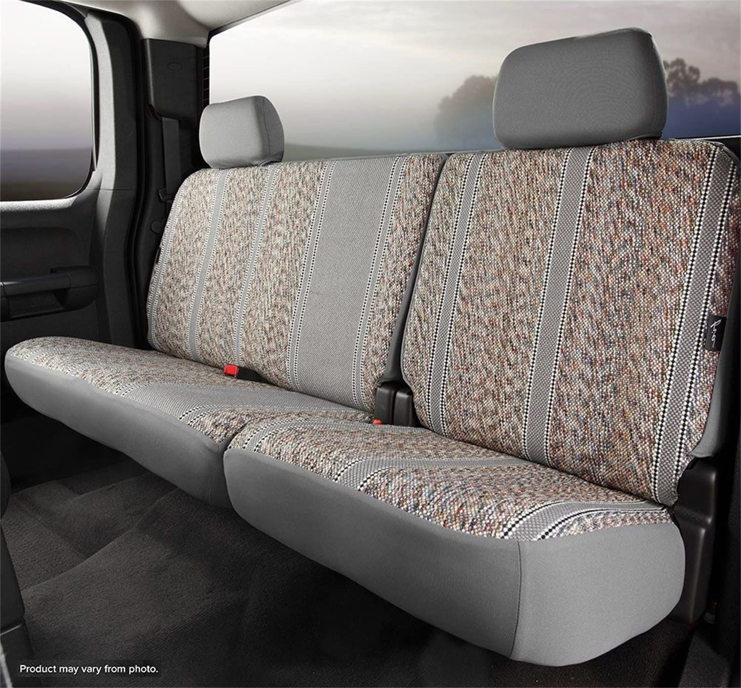 Gray Fia TR42-40 GRAY Custom Fit Rear Seat Cover Bench Seat Saddle Blanket,