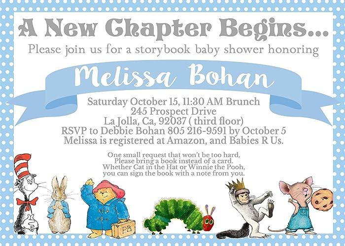 Amazon storybook baby shower invitation handmade storybook baby shower invitation filmwisefo