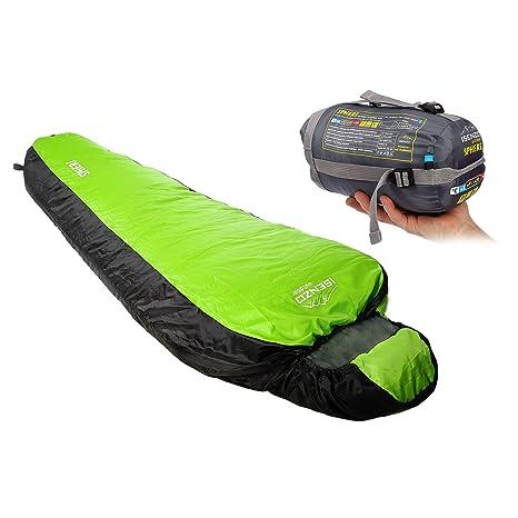 Isenzo Saco de dormir momia saco de dormir Peso 550 G camping Outdoor momia 5/