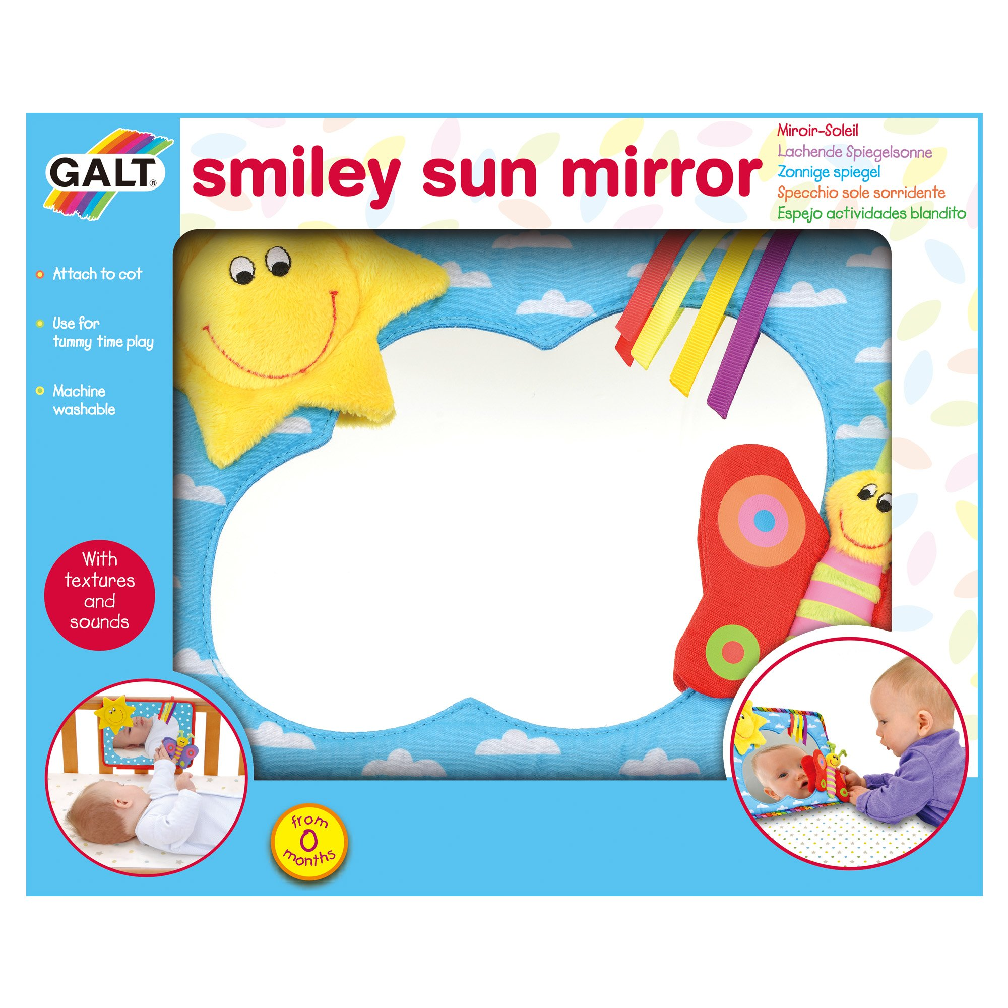 Galt Toys First Years - Smiley Sun Mirror