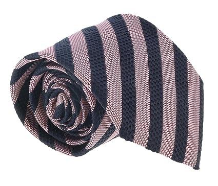 44252dce Ermenegildo Zegna Pink-Navy Blue Cubic Stripe Tie for mens at Amazon ...