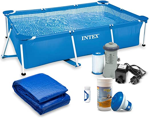 Intex 28270 – Kit para piscina de jardín 7 en 1, 220 x 150 x 60 cm ...