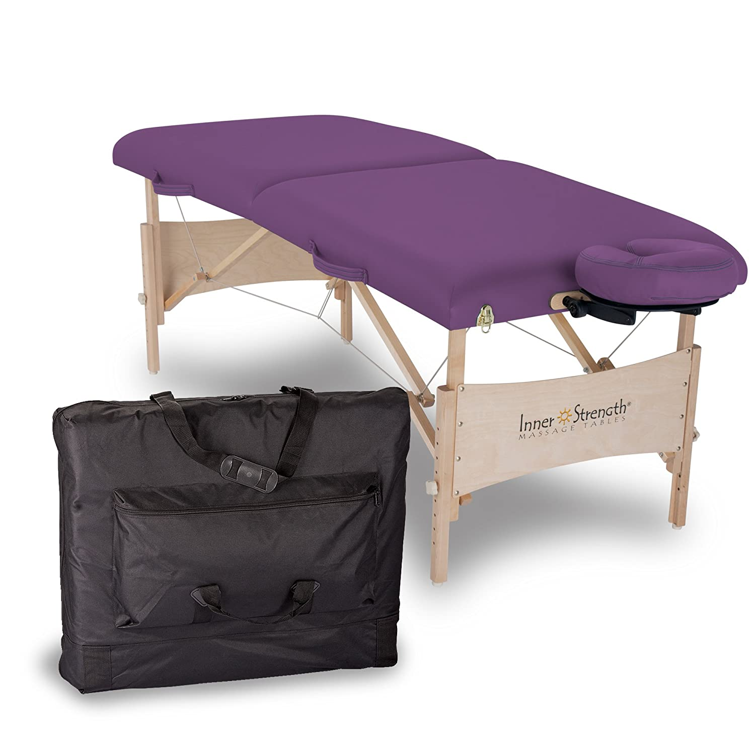INNER STRENGTH Portable Massage Table Package ELEMENT – Incl. Deluxe Adjustable Face Cradle, Face Pillow & Carrying Case Earthlite 20265