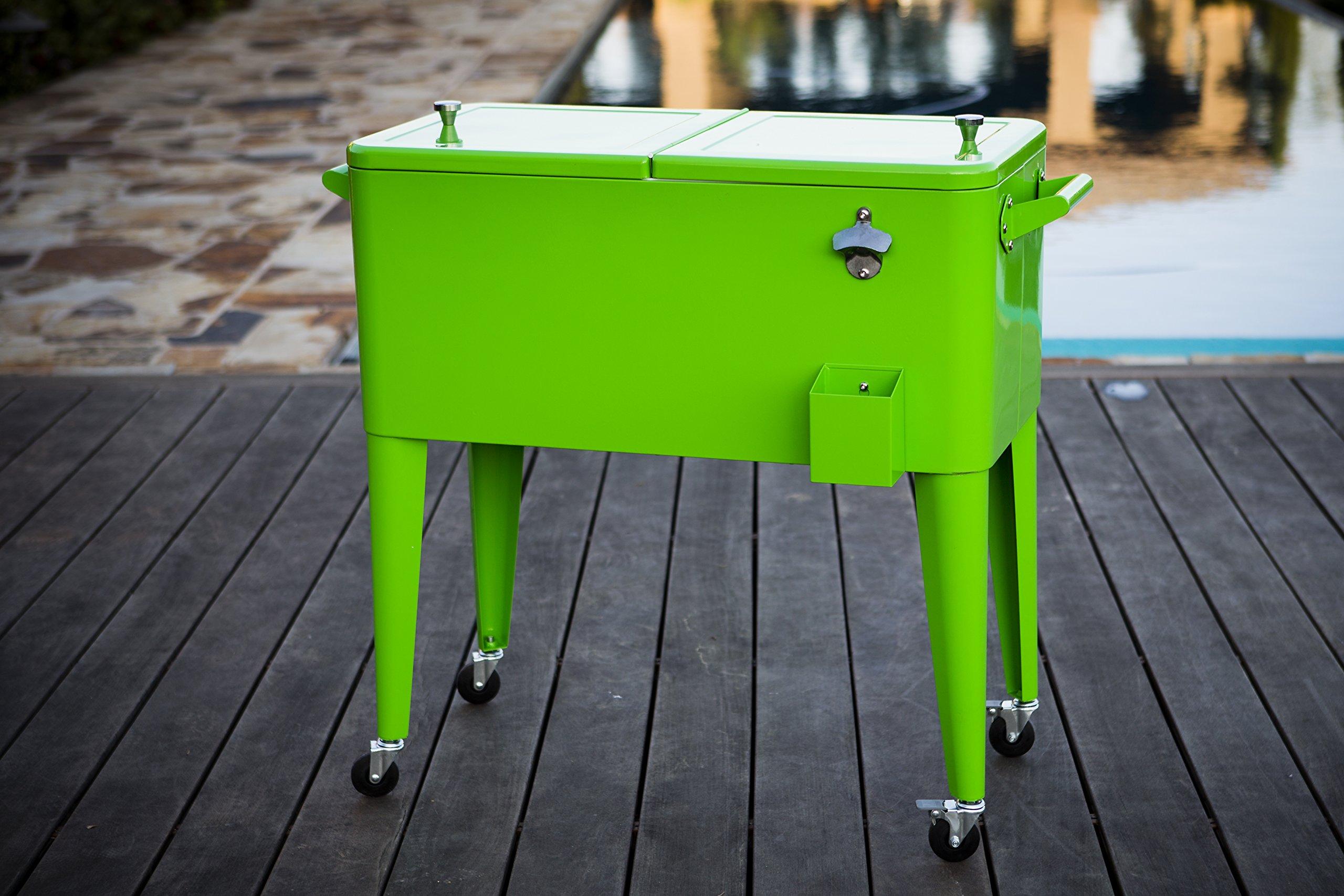 Permasteel 80 Quart Portable Picnic Cooler in Lime by Permasteel (Image #3)