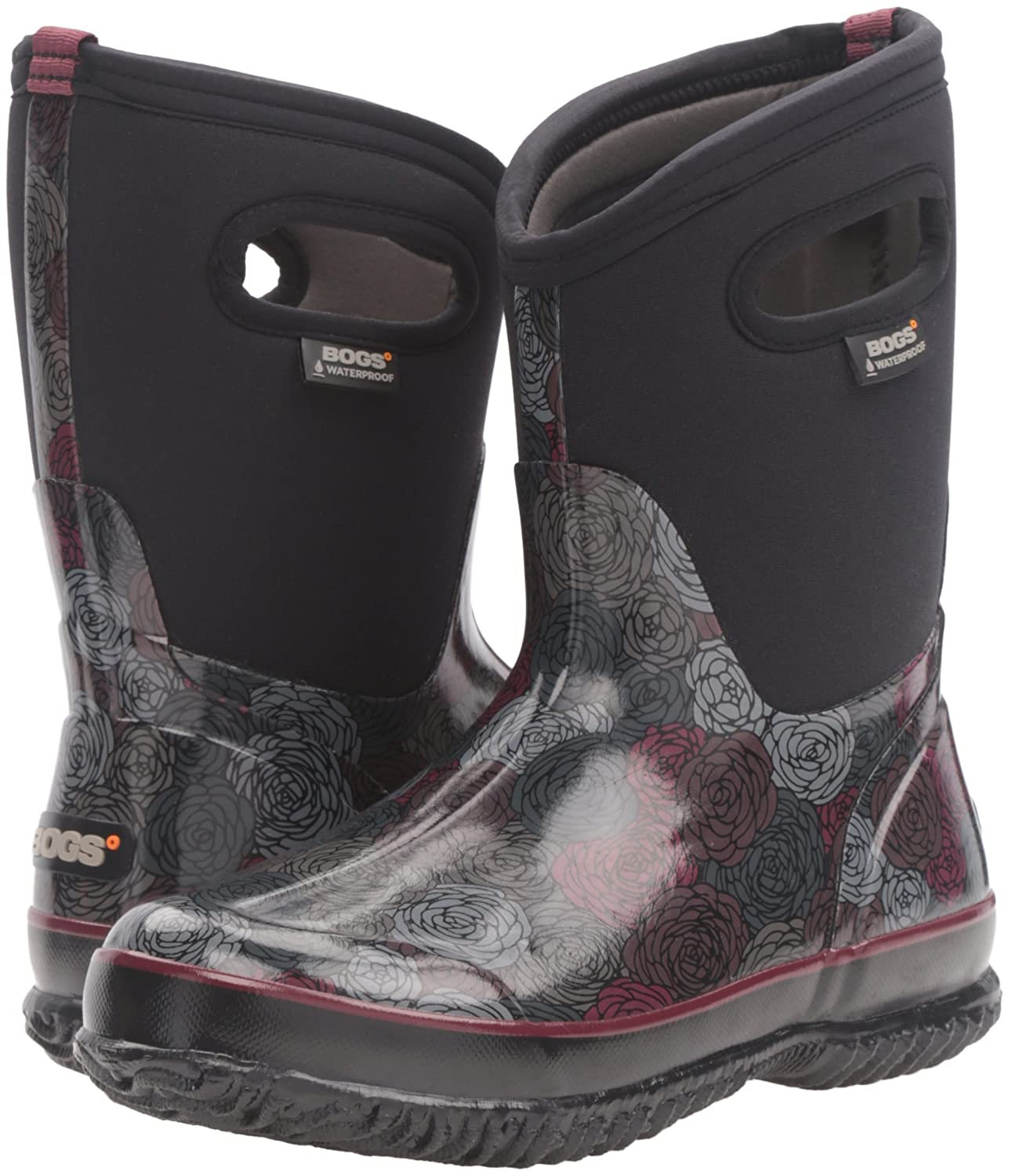 Bogs Womens Classic Rosey Mid Winter Snow Boot Classic Rosey Mid-W