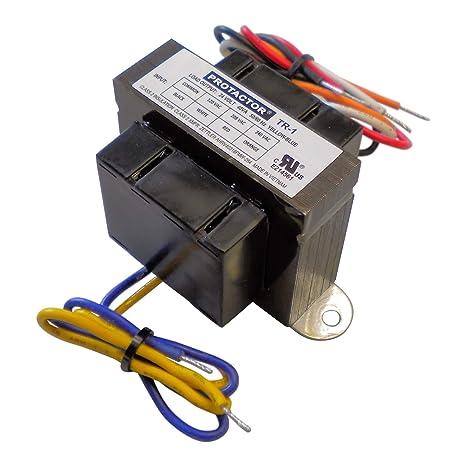 amazon com: protactor universal furnace transformer 115-208-240 volt  primary 24 volt secondary 40 va: garden & outdoor