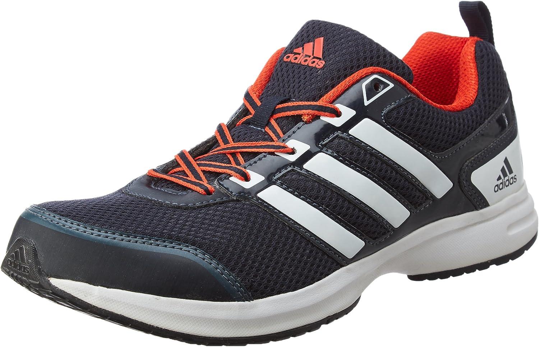 Orange Mesh Running Shoes