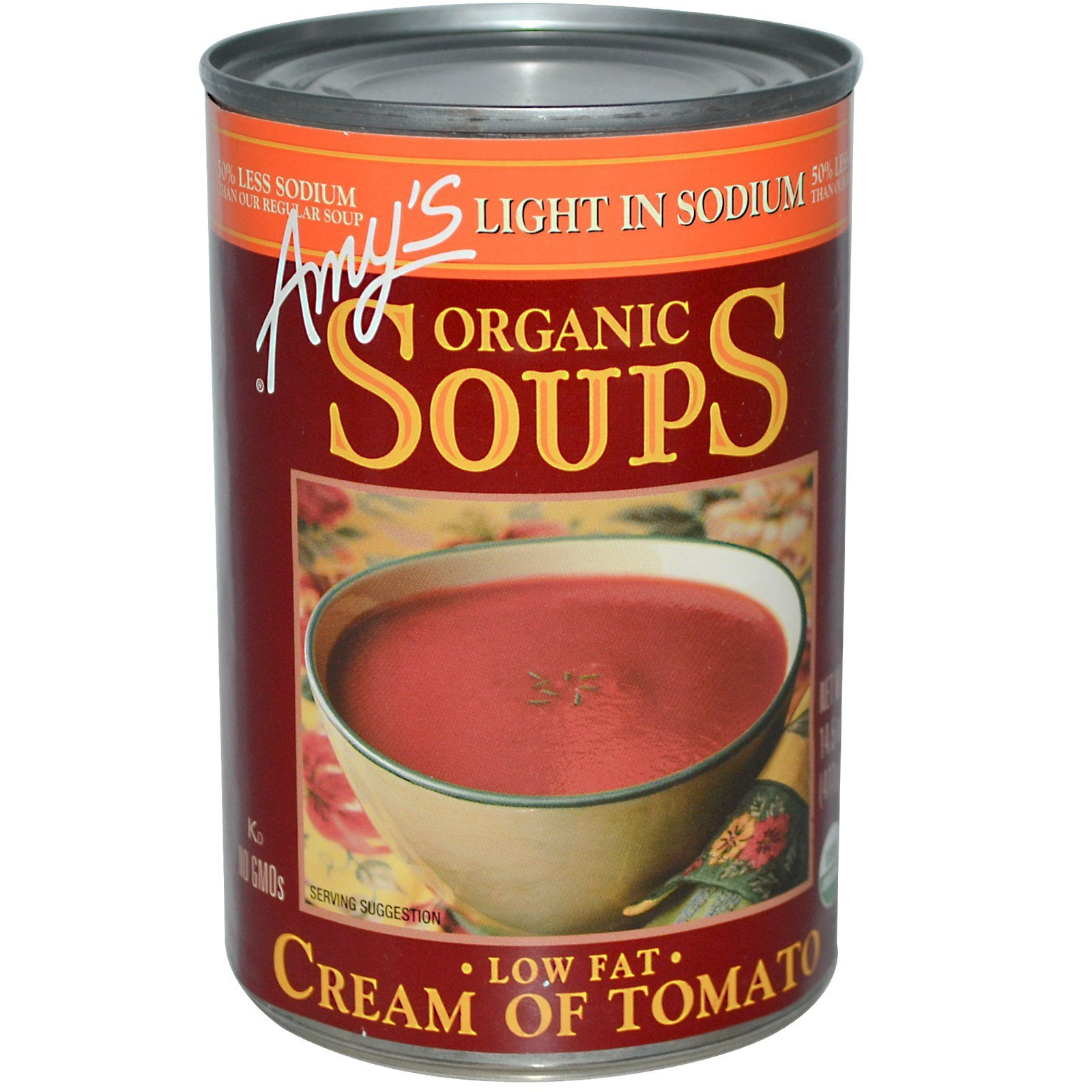 Amy's, Organic Soups, Low Fat Cream of Tomato, Light in Sodium, 14.5 oz (411 g)(Pack of 4)