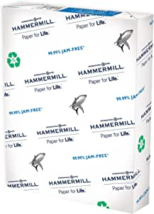 - 92 Bright 1 Ream 500 Sheets Made in the USA Hammermill Printer Paper 3 Hole Great White 30/% Recycled Paper