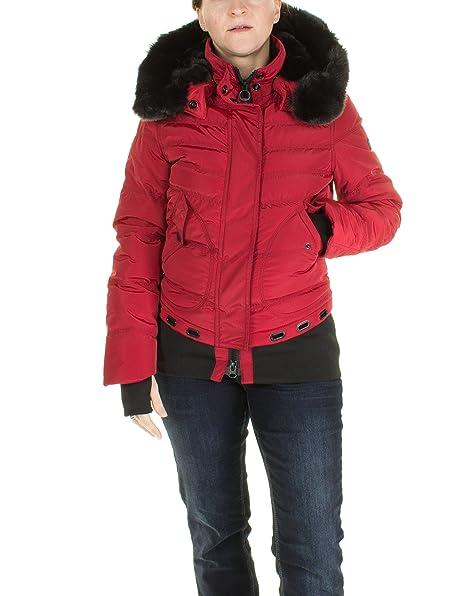 Onda Steyn - Mujer chaqueta chaqueta de invierno chaqueta acolchada corta Queens rojo oscuro Large : Amazon.es: Ropa y accesorios