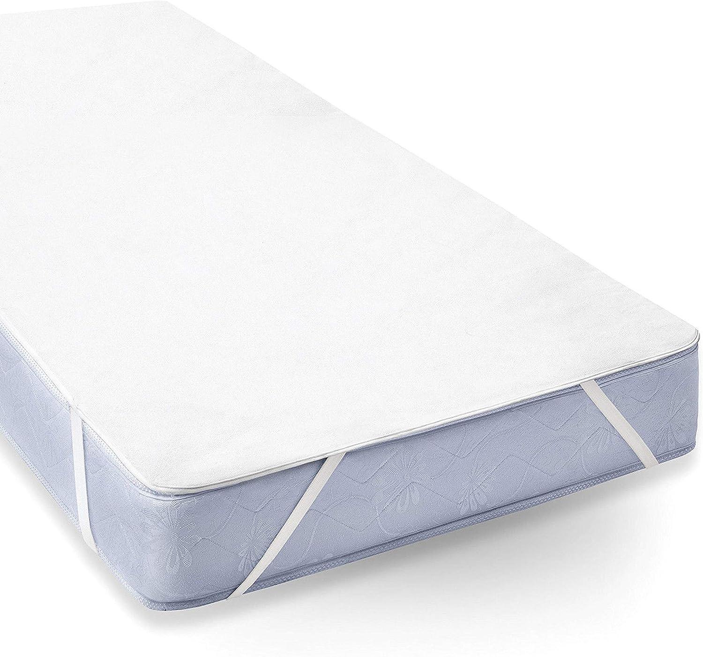 Uniento Protector de colchón Resistente al Agua, algodón, Blanco (100 cm x 200 cm)
