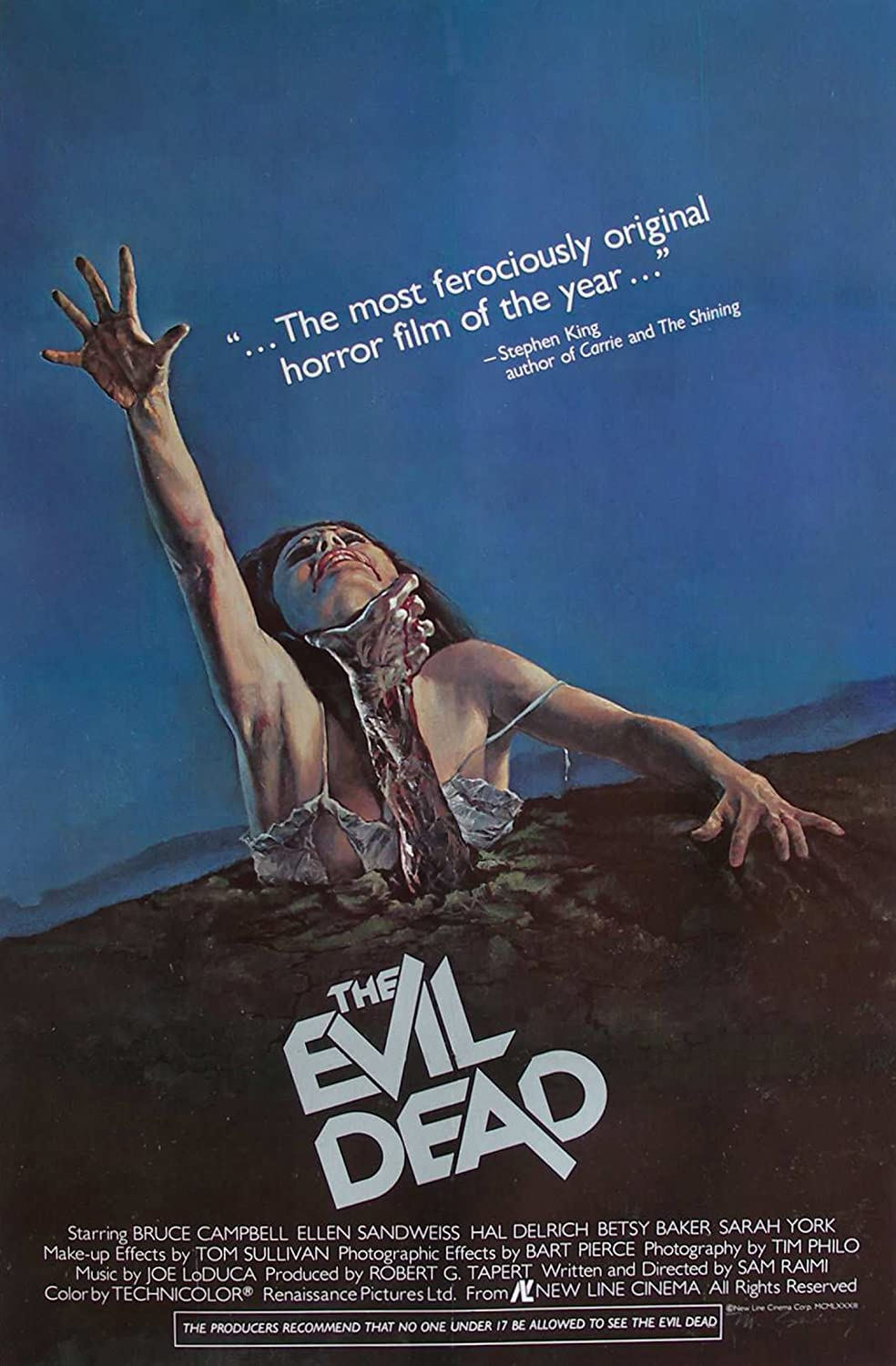 Evil Dead ... Classic Horror Movie Poster ... Various Sizes (Super A1 Size 24 x 36 ins) Poster World