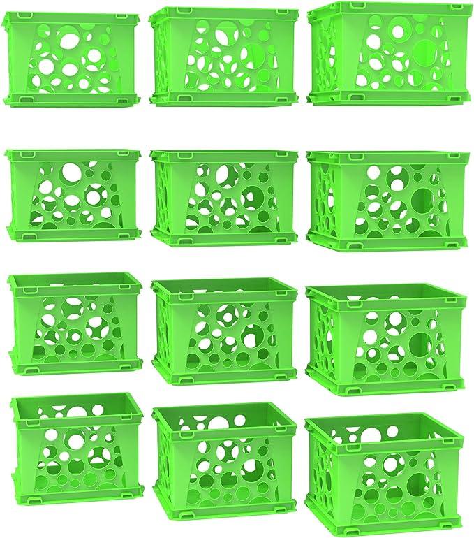 Colored Display Crates Natural 16 x 11 1//2 x 9 1//5