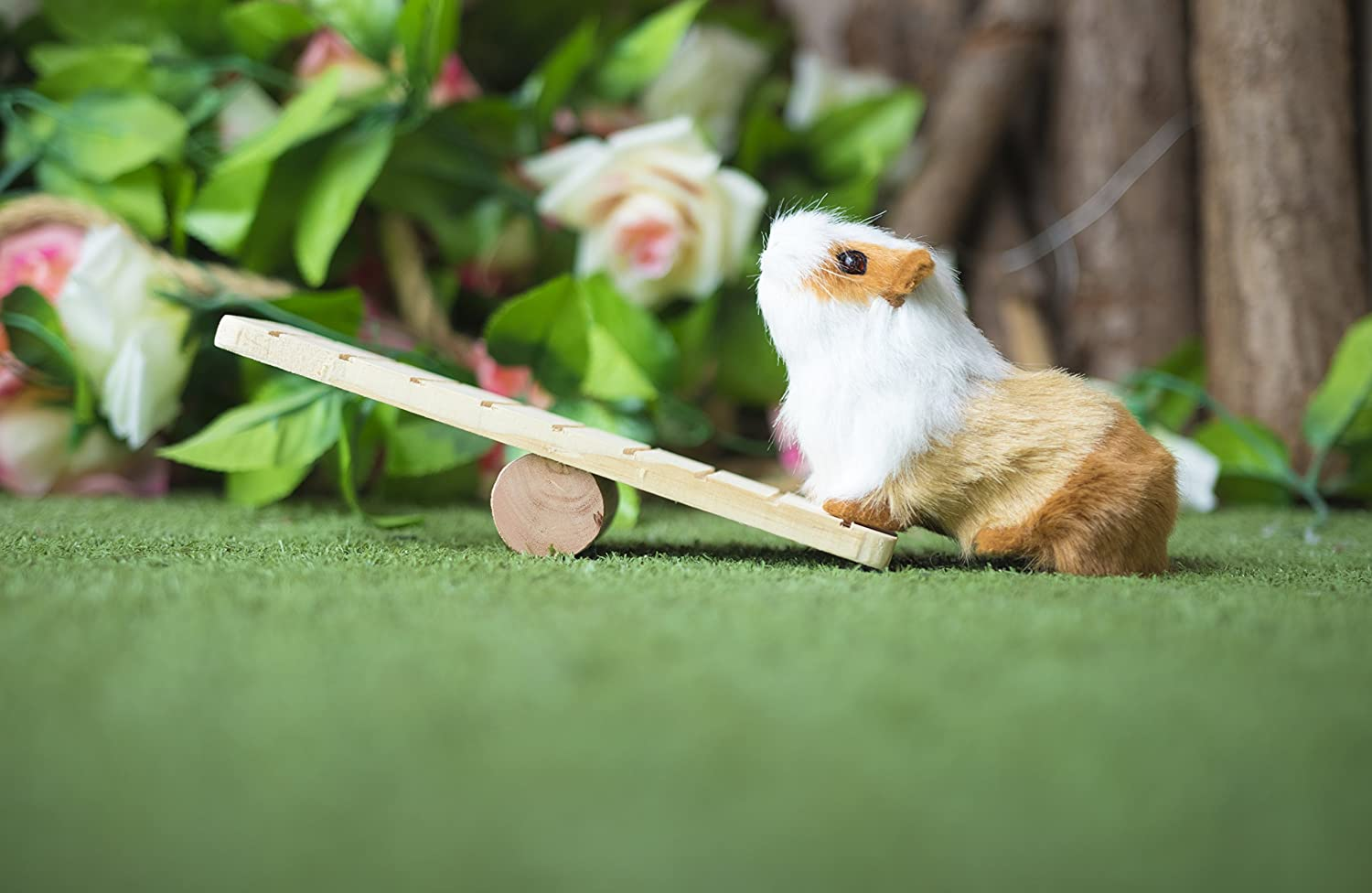 HEHEN Wood Seesaw for Hamster Totgold Small Animals