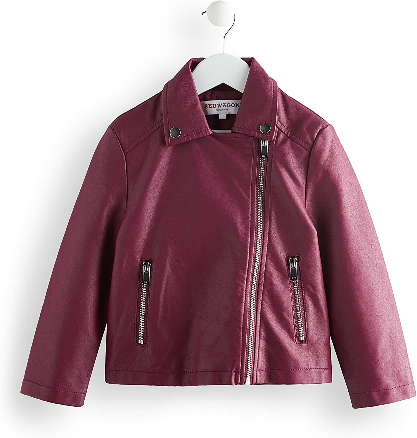 Marca Amazon - RED WAGON Chaqueta Biker Niñas