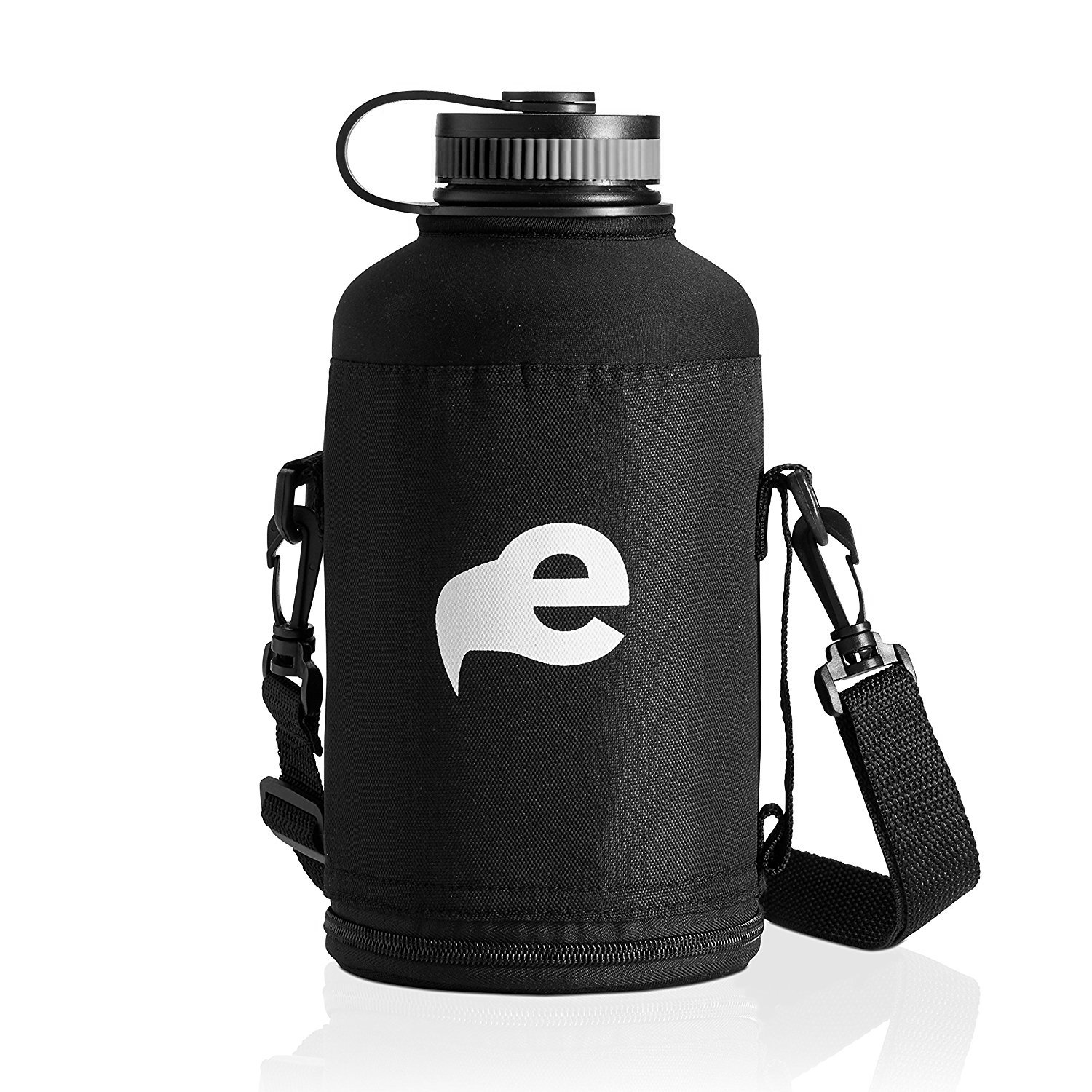 Stainless Steel Insulated Beer Growler - 64 oz Water Bottle - Includes Carry Case - Double Wall Vacuum Sealed Wide Mouth Design. Five Year Guarantee! Perfect Temperature Control from eegl by eegl (Image #3)