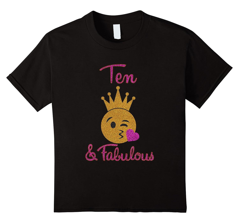 10th Birthday Girl Fabulous Emoji-Tovacu