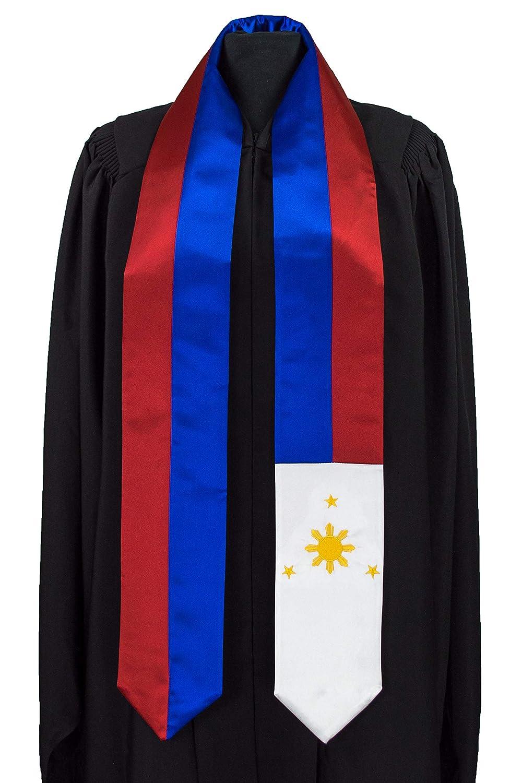 eccezionale gamma di stili e colori enorme inventario materiale selezionato Philippines Flag Graduation Sash/Stole International Study Abroad Adult  Unisex