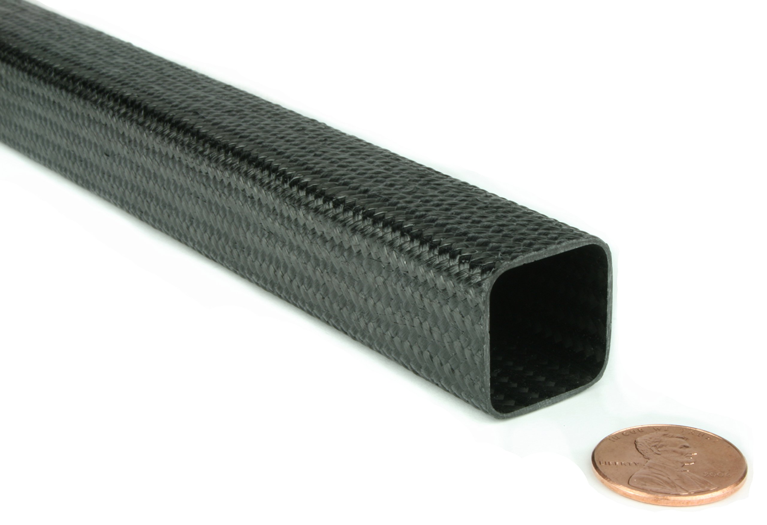 Braided Carbon Fiber Square Tubing - 0.75'' ID x 0.75'' ID x 96'' by DragonPlate