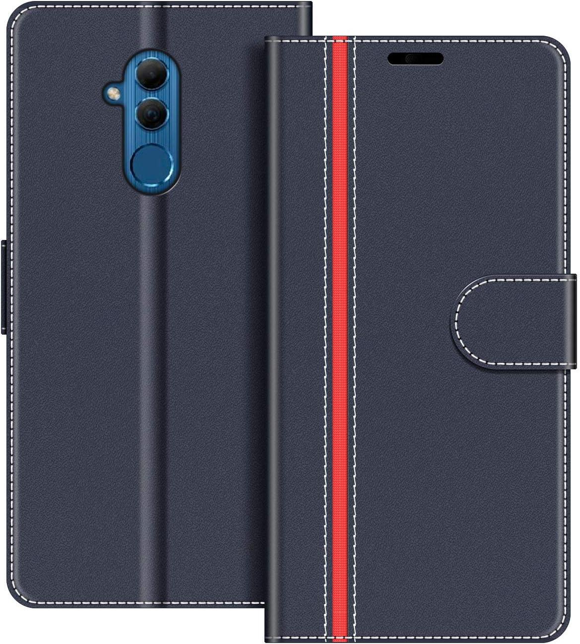 COODIO Funda Huawei Mate 20 Lite con Tapa, Funda Movil Huawei Mate20 Lite, Funda Libro Huawei Mate 20 Lite Carcasa Magnético Funda para Huawei Mate 20 Lite, Azul Oscuro/Rojo
