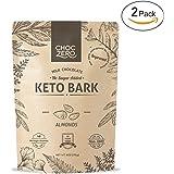 ChocZero's Keto Bark, Milk Chocolate Almonds, 100% Stone-Ground, No Added Sugar, Low Carb, No Sugar Alcohols, Non-GMO (2 bags)