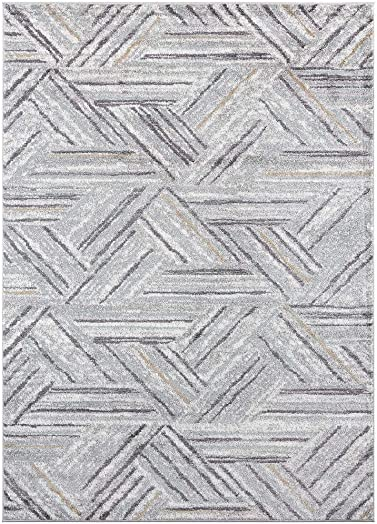 Luxe Weavers Hampstead Abstract Gray 8×10 Area Rug