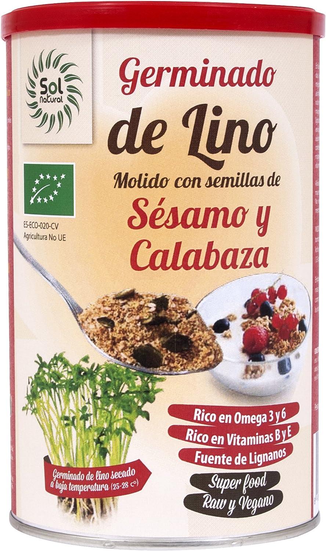 Sol Natural Germinados de Lino Molido con Semillas Calabaza/Sésamo ...