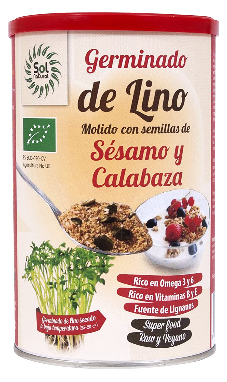 Sol Natural Germinados de Lino Molido con Semillas Calabaza ...