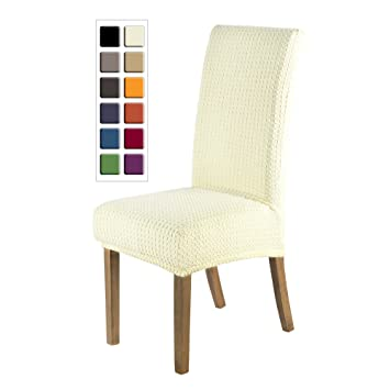 SCHEFFLER HOME Jacquard Lea Chair Covers For Dining Room 2 Pcs Stretch Chaircover