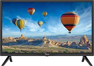 Impecca 24 Inch LED HD TV Monitor TL2400H Energy Star Slim Design 720p, Built-in Speakers with Multiple Imputes HDMI, USB Ports, and Remote, Wall Mountable