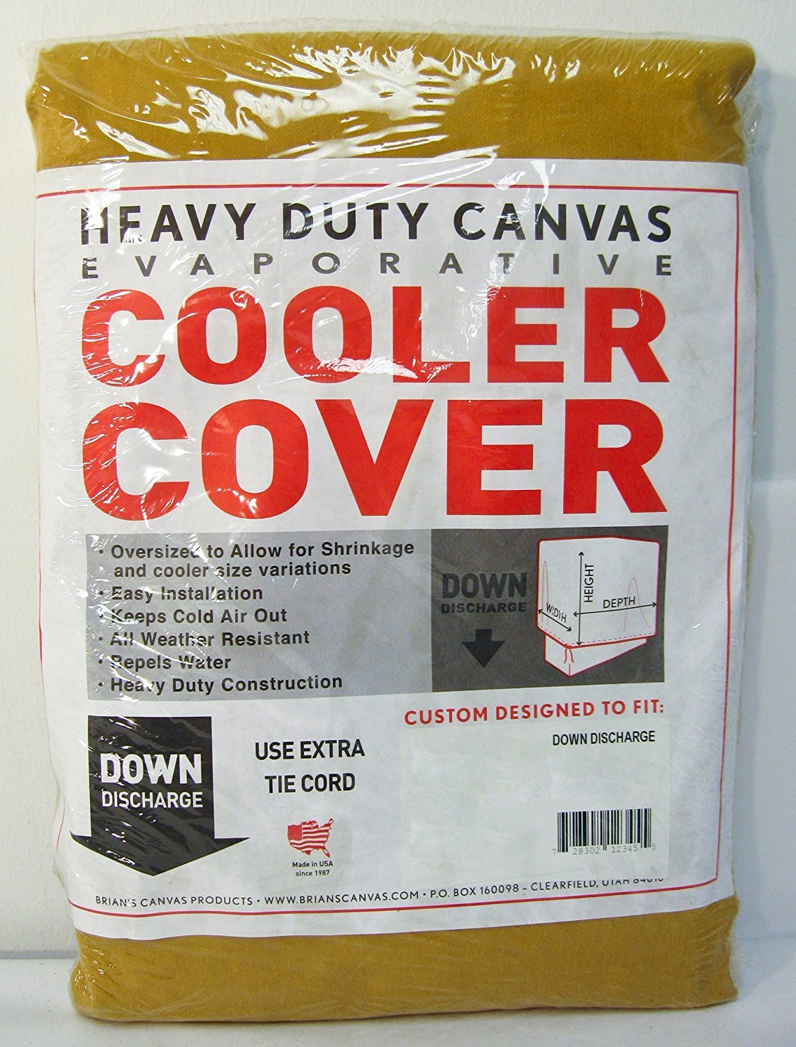 36''W x 36''D x 36''H Down Draft Heavy Duty Canvas Cover for Evaporative Swamp Cooler (36 x 36 x 36)