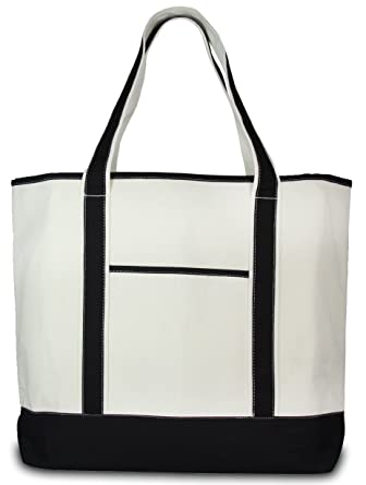 Amazon.com: Deluxe Canvas Tote Bag, Black: Clothing
