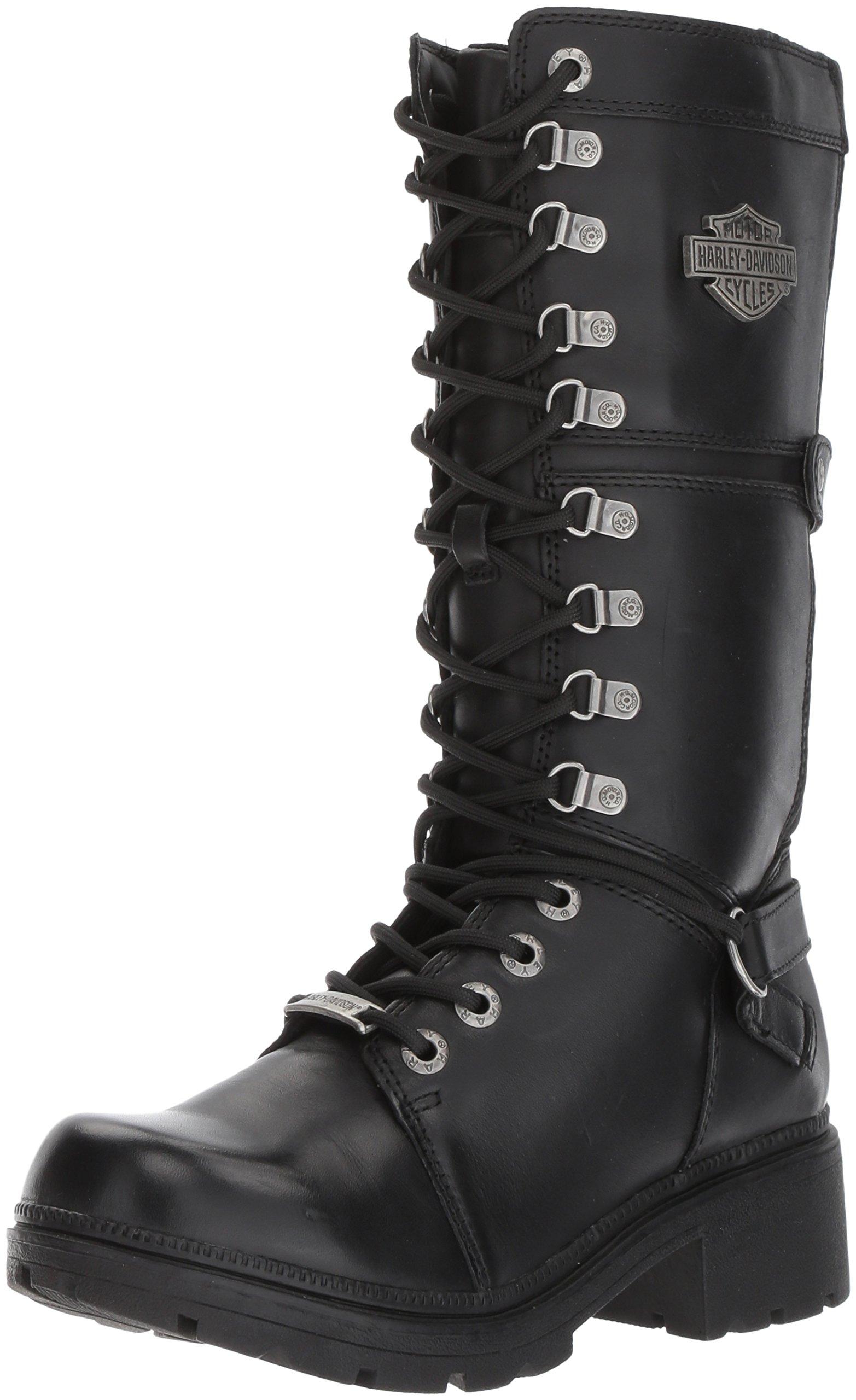 Harley-Davidson Women's Harland Work Boot, Black, 8 M US