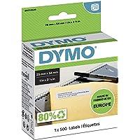 DYMO LW - Etiquetas auténticas de dirección del remitente grandes, 25 mm נ54 mm, rollo de 500 etiquetas con reverso…