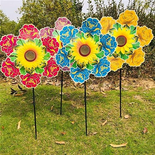 Yifeicx Girasol Wind Spinner Windmill Juguetes Flor Colorido Jardin Decoracion Pinwheel Niños Niños Juguete Adornos Regalos Juegos Al Aire Libre: Amazon.es: Jardín