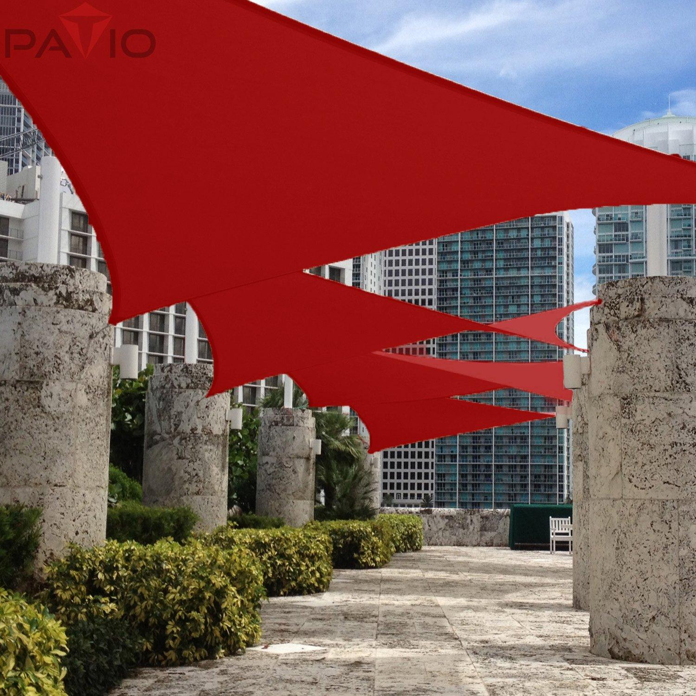 amazon com patio paradise 8 u0027x12 u0027 waterproof sun shade sail red
