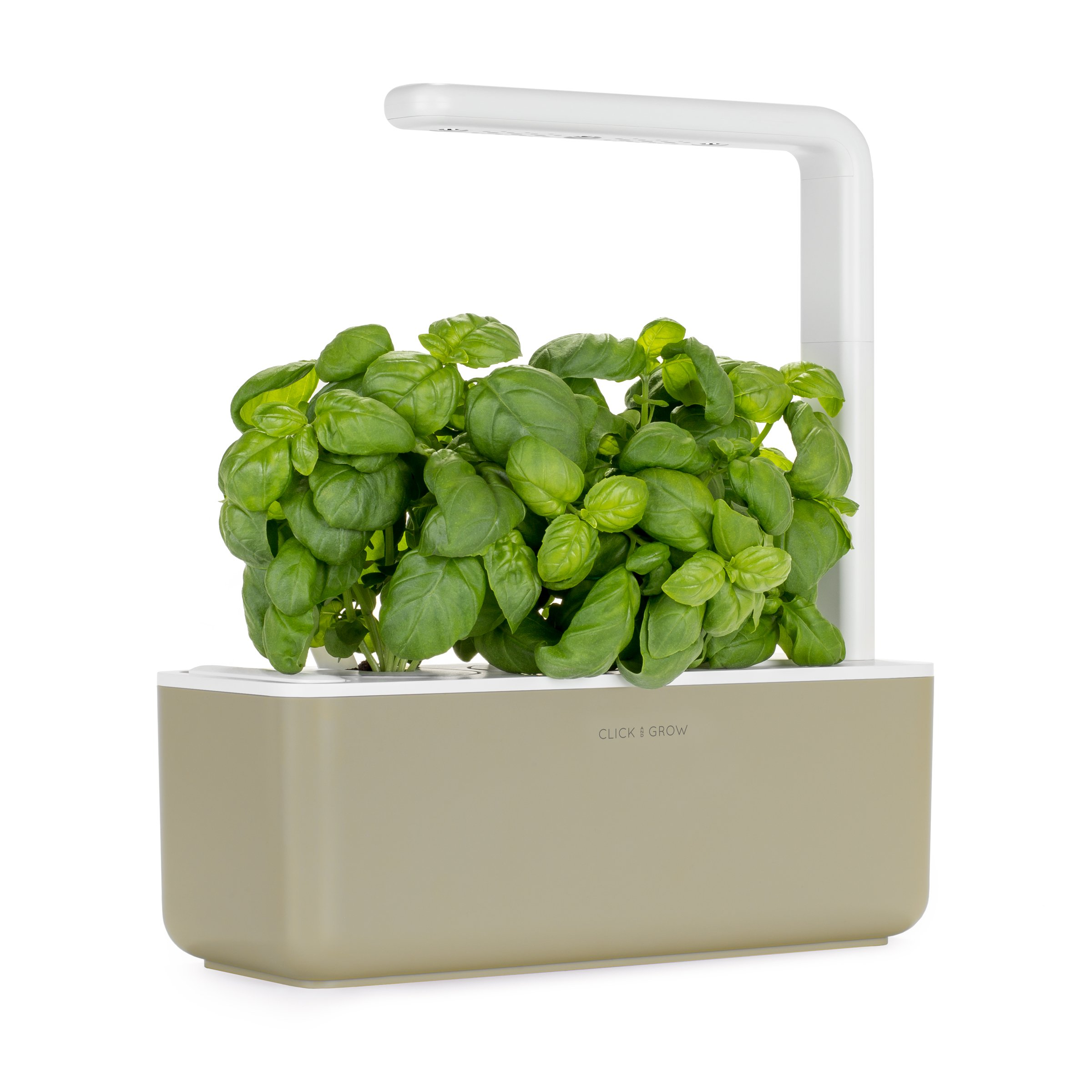 Click and Grow Smart Garden 3 Indoor Gardening Kit (Includes Basil Capsules), Beige by Click & Grow