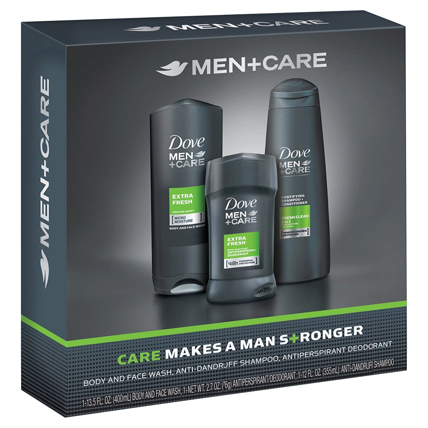 Dove Men+Care Extra Fresh Bath and Body Gift Set (3Pcs) Unilever